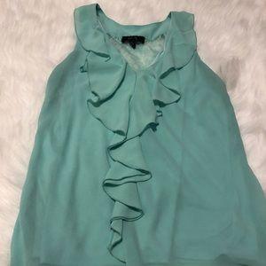 BCX tourquoise strapless blouse